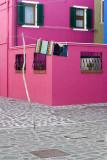 laundry amid Burano colours