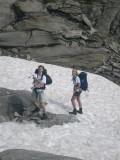sneeuwvelden nabij Passo del Corandoni
