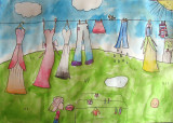 hanging clothes, Sophia Su, age:7