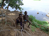 Boys on the banks of the White Nile River