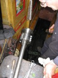 Mounting the coupling on the prop shaft