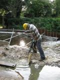 Tim on concrete breaking duty