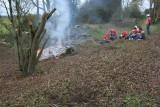 Watching the bonfire die down