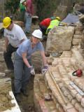 New Rachel is proud of her brickwork ...