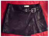Buscati leather wrap skirt_Small 30 waist 12 length(arrived)