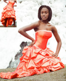 orange_ wedding size 8_ model size 3 or 4 ( arrived)