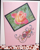 Birthday card  with heat embossing