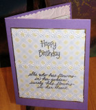 Another Birthday card with heat embossed messages