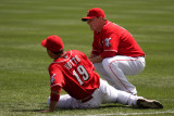 Stretching Votto and Bruce