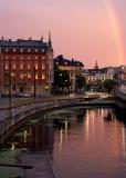 Old Town in Stockholm at dusk