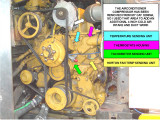 CAT 3208NA ENGINE FRONT ITEMS