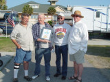 RANDY DUPREE, ROBBIE WOODY WOODS WITH HIS BROKEN BUT HERE TRAVELING AWARD, JOHN FINN, LEE DAVIS