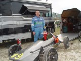 JIM BROOKSHIRE & HIS TOYS A FORMULA VEE & HIS 'BIRD JIM SAT ON THE POLE FOR ONE RACE LET'S HEAR IT FOR THE GERIATRIC TEAM!!