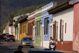 Typical Antigua street scene where everything is hidden behind walls