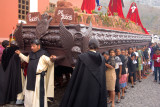 The Anda, a hardwood float weighing between 3,000 and 7,000 pounds, is the centerpiece of each Procession.
