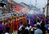 Processions begin and end at a church. They wander through the town's streets and take from 6 to 14 hours!