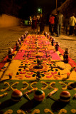 Some of the faithful will work through the night to complete the alfombras