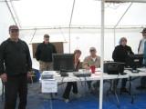 Blake N. RD, Joe L, assistant RD & stats, and timing volunteers