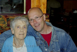 Merry Christmas to all my   friends . My Mother (ninety years old ) and me