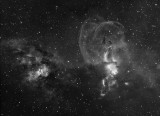 NGC 3576 Ha 75 mins