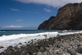 The beach at hermigua (and Tenerife in the back)