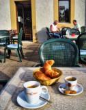 Morning on a café terrace  3