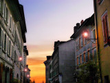 Sunset in the street....