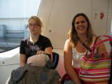 Amanda and April on the DFW Skylink