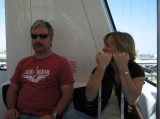 Mike and Dana on the DFW Skylink