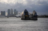 thames barrier, & London Skyline