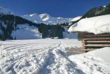 Kleinwalsertal Österreich Wanderung ins Schwarzwassertal (2.2.2006)