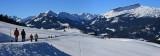 Kleinwalsertal Österreich Winterpanorama