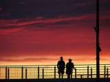 2 devant le coucher de soleil