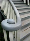 l'escalier de bois du domaine