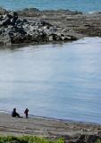 la mère et l'enfant sur la plage