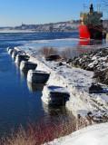 les quais du port coté fleuve