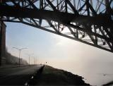 sous le pont de Québec