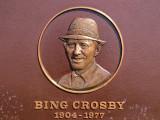 Plaque de Bing Crosby au Pebble Beach golf course