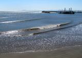 les vagues du port de Santa Barbara