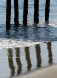 reflet de piliers