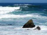 la vague et le rocher