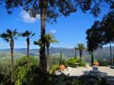 la vue vers les montagnes de San Simeon