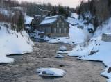 la rivière Chicoutimi à la vieille pulperie