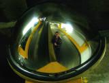 dans le miroir du parking