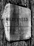 Goat Rocks Wilderness entry sign