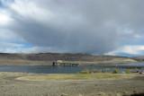 Columbia River Bridge and Storm Clouds