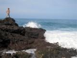 089 - Alex standing above the big Atlantic ocean waves