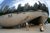 A girl by the Jelly Bean, Chicago