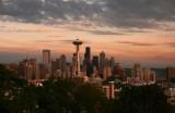 Seattle Skyline at sundown