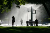 A water fountain in Kamloops